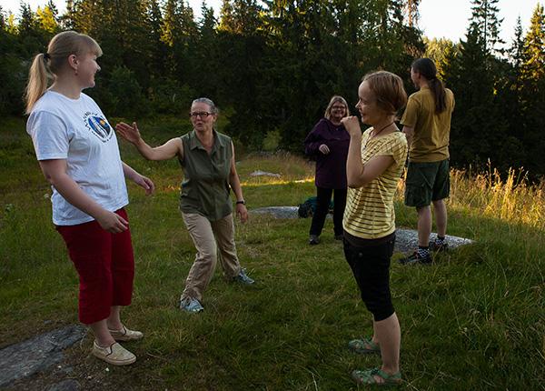 Image: People in nature having fun