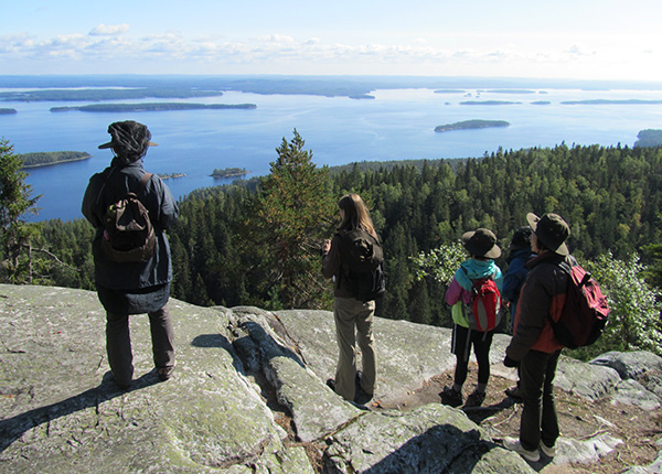 Image: People looking at the beautiful Koli landscape