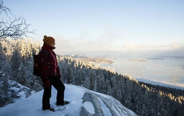 Image: Hiker on Koli hills. Copyright Kirsti Hassinen.