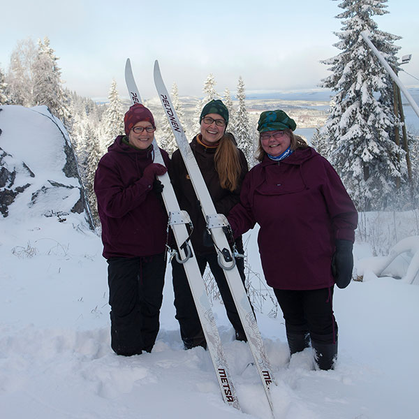 Owner of Feel Koli and Ilovoltti Oy, Irja, Marja and Hanna.